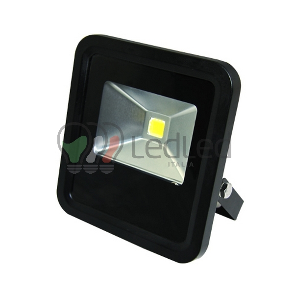 Faretto led da esterno 10w slim bianco neutro 4100k for Proiettori a led