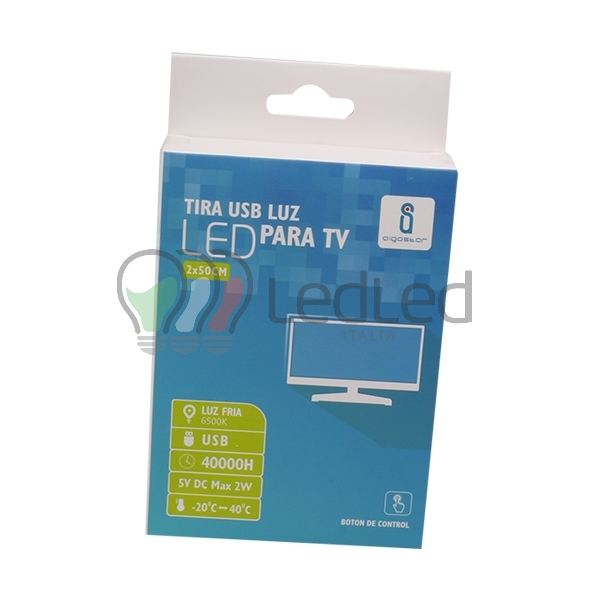 Striscia led usb flessibile da 5w composta da 2 barre di for Acquisto led online