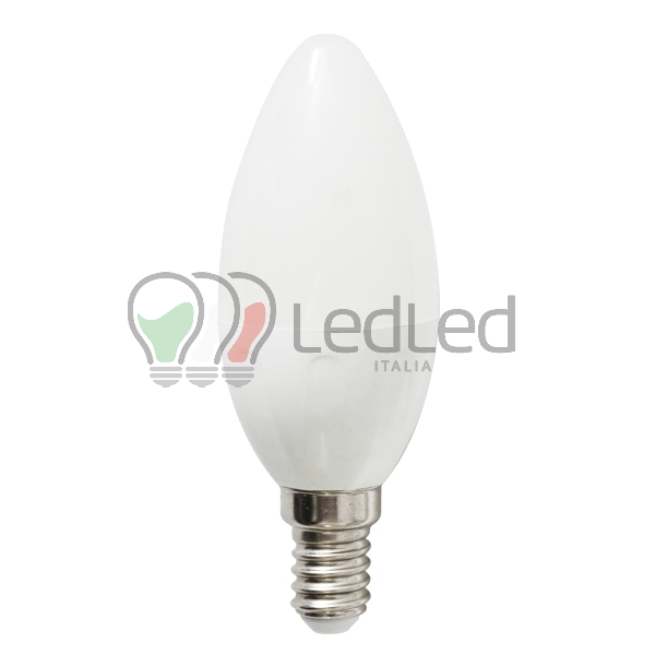 Lampadina led c37 e14 3w bianco caldo 3000k for Lampadine led 3 volt