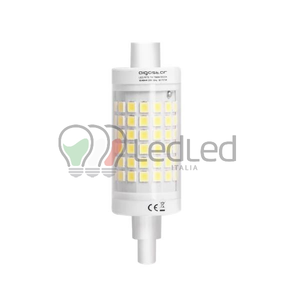 Lampadina led lineare r7s 7w 78mm bianco freddo 6500k for Lampadina r7s led 78mm